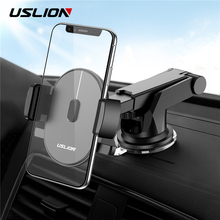 USLION Gravity Sucker Car Phone Holder Multifunction Stand Holder for Mobile Phone GPS in Car Wall Desktop Windshield Auto Stand