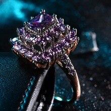4e5c71b808ac ZHE FAN de lujo AAA Cubic Zirconia geométricos rectángulo Halo anillo de  compromiso boda rodio oro Color de rosa 2 tono plateado.