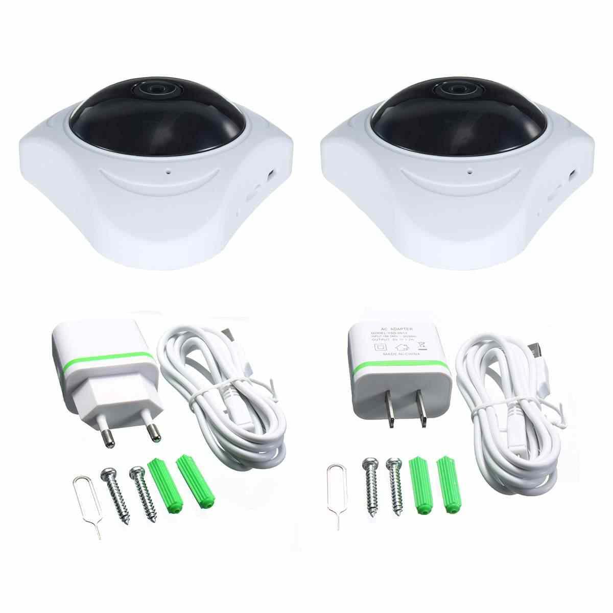 3D Виртуальная реальность Wi-Fi Камера 360 градусов панорамный FIsheye 960 P беспроводной Крытый безопасности Белый ЕС Plug