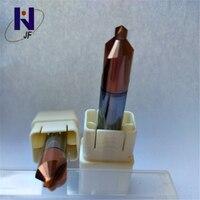 D4.35 * 5 * D10 * 75 الصلبة كربيد مركز حفر 90 درجة ، HRC45 ، عموما طول 60 ملليمتر-في مقطع تفريز من أدوات على