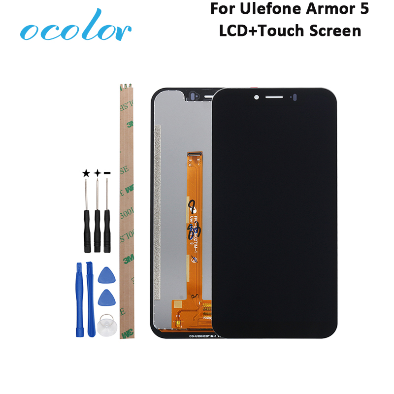 ocolor For Ulefone Armor 5 LCD Display and Touch Screen 100 Tested 5 85 Digitizer Assembly