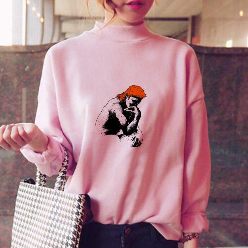 Sporting Mullet Hoodies Women Oversized Female Korean Style Warm Winter Ulzzang Korean Style Sweat Shirt Hood Oversized Great Varieties Women's Clothing