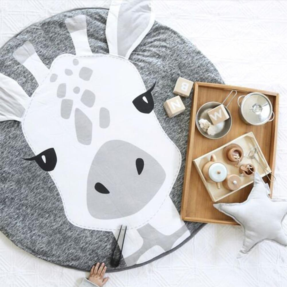 Mother & Kids New Fashion Kidlove Cute Baby Infant Crawling Activity Pad Round Kids Crawling Carpet Rabbit Blanket Cotton Game Pad Children Room Decor