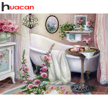 huacan Diamond Painting full square drill Scenery Pictures With Rhinestones Embroidery Bathtub Hobby And Handicraft
