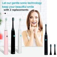 Tsaiumi ET530 Elektrische Sonic Zahnbürste USB Aufladbare IPX7 Wasserdichte Elektrische Zahnbürste Mit 4 Modi Reinigung 2 Pinsel Köpfe
