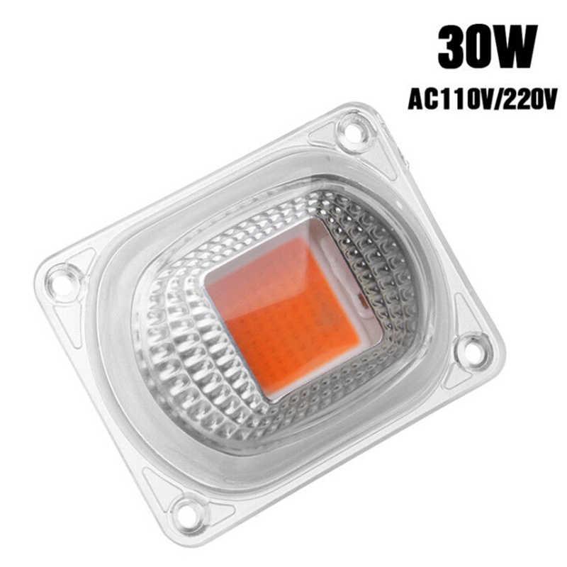 1 * COB сельскохозяйственная лампа чип с объективом 20 Вт, 30 Вт, 50 Вт высокой мощности Мощность полный спектр бескорпусной чип светодиодный для выращивания домашних растений свет LED чип наводнение