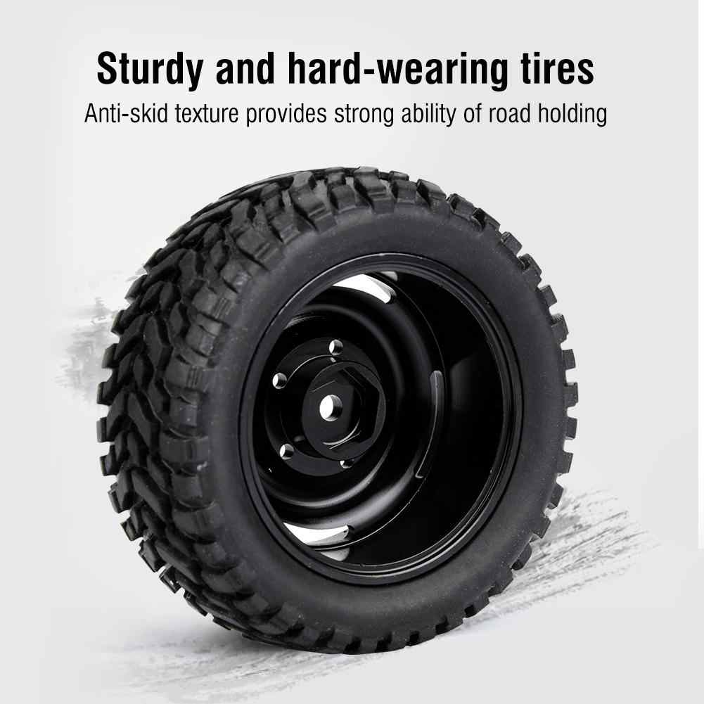 4pcs Tire Wheel Rim Rubber for FY 1/16 Climbing WPL C14 C2 Crawler Remote  Control Car Anti-skid texture Easy install Tire