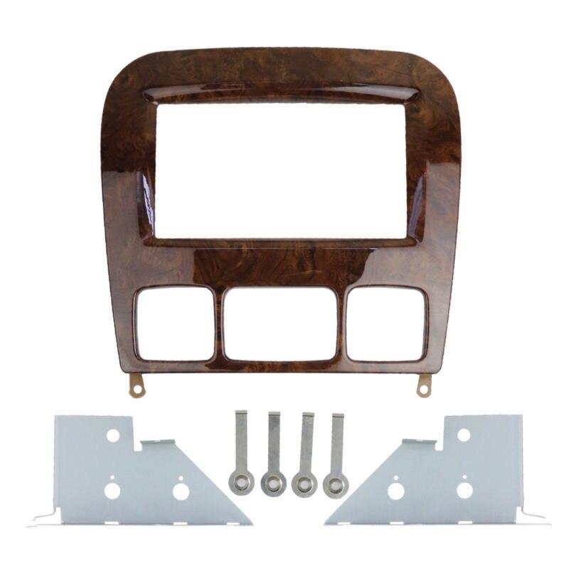 Panneau de tableau de bord de Fascia stéréo de voiture 2Din cadre kit d'outils pour habillage pour Mercedes Benz classe S