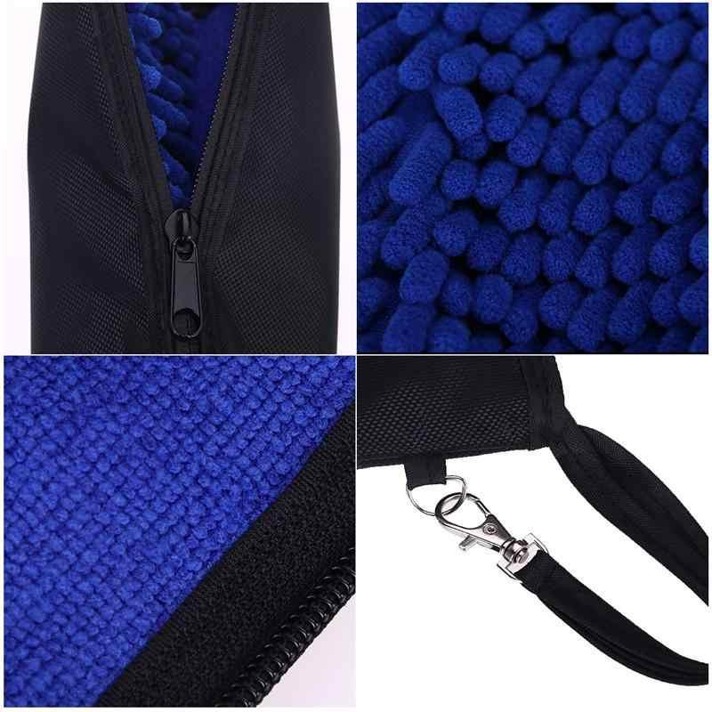 Супер водопоглощающий зонтик Сумка Чехол молнии закрытия портативный мешок (синий)