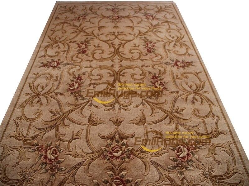 Savonnerie européenne épais et peluche Floral treillis Design tapis circulaire tapis ménage décore tapis chambre