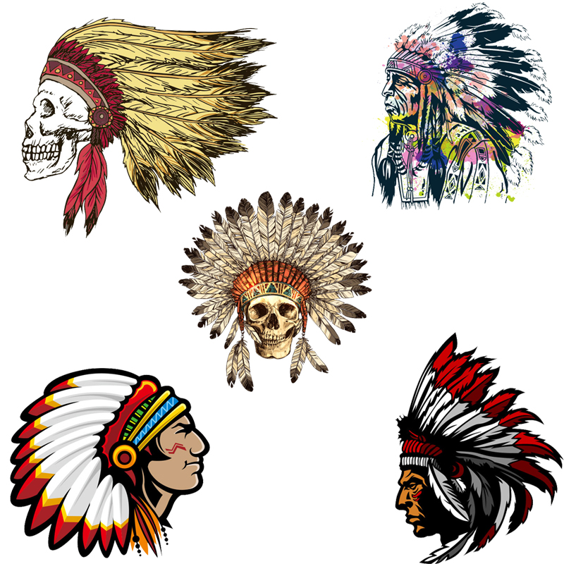 Iron on Patches Indian Patch for Clothing Sticker Application Heat Transfer Decor Badges Diy T shirt Stranger Things Print E in Patches from Home Garden