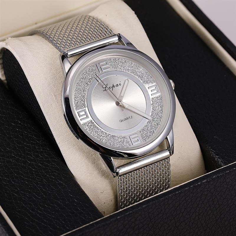 Relogio Feminino Silver Minimalist Watch Aluminum Band Stainless Steel Analog Quartz Wristwatch Women Female Luxury Watches