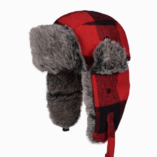 e965f79fc US $10.36 39% OFF|Hot Sale Russian Hat Ushanka Fur Mens Winter Hats Ear  Flaps Sports Snow Outdoor Cap Winter Bomber Hats For Men Women-in Bomber  Hats ...