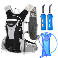Running Backpack 15L Men Women Marathon Hydration Vest Pack Cycling Hiking Bag Outdoor Sport +2 L Water Bag +0.5 L Water Bottle