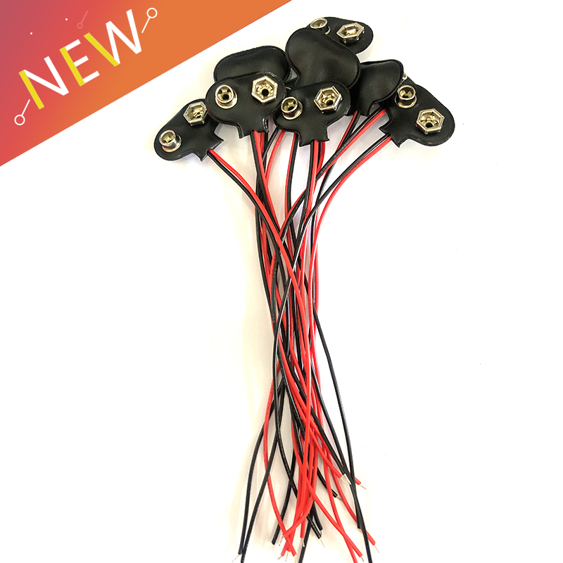 10pcs-9v-battery-snap-connector-clip-lead-wires-holder-wire-length-15cm