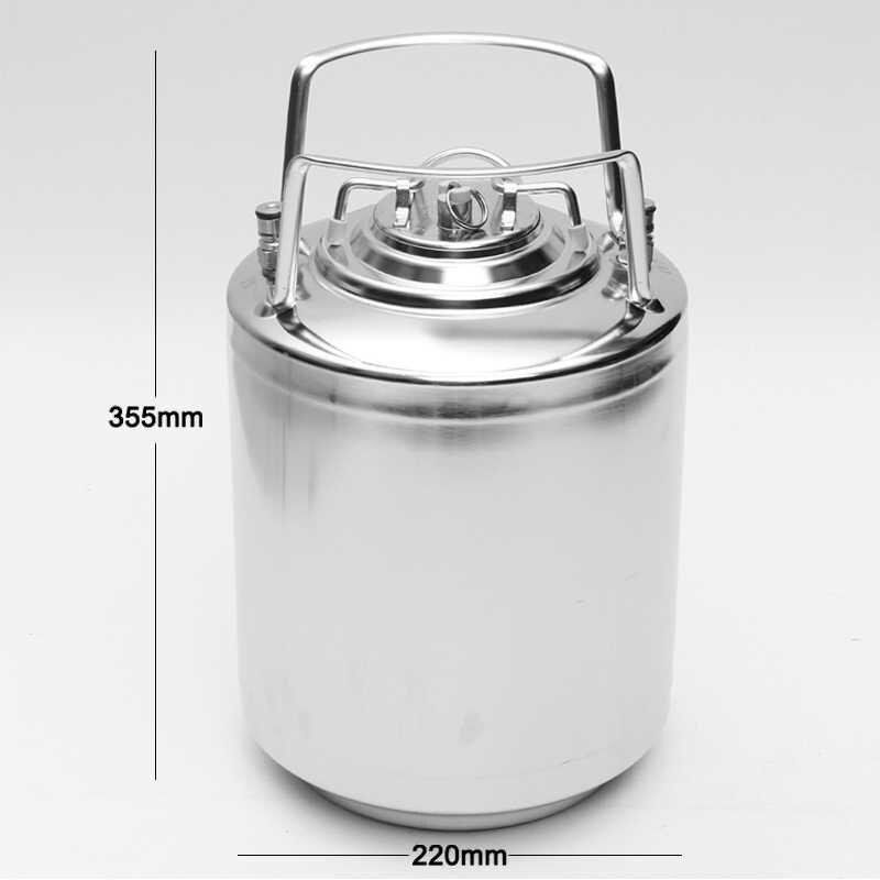 10L Sfera in acciaio inox di Blocco Barilotto di Birra Growler per le Imbarcazioni In Pressione Distributore di Birra Sistema Home Brew Beer Birra Maniglie In Metallo