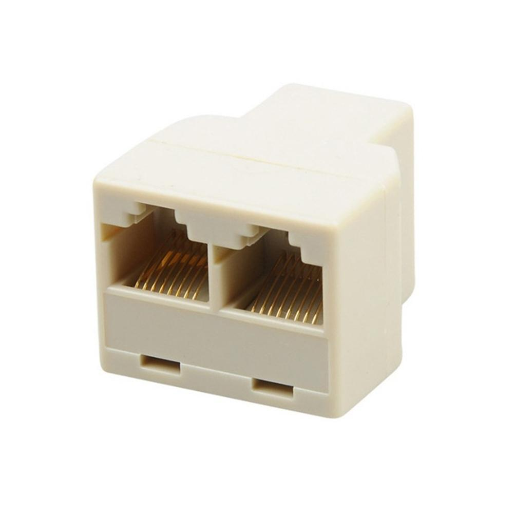 RJ45 Splitter Connector 1 To 2 Way Dual Female Cat6/5/5e RJ45 Lan Ethernet Network Splitter Adapter Extender Plug Coupler