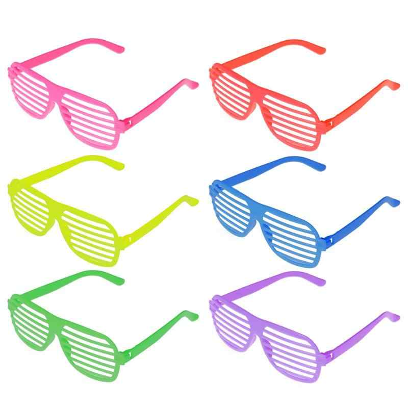 50 pcs Shutter Shades Glasses Solid Color Eyewear Shutters Sunglasses Party Props Gift for Christmas Birthday Halloween