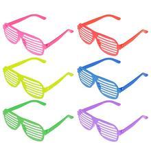Obturador óculos 50 peças, cor sólida obturador óculos de sol óculos da festa adereços presente para o natal de aniversário do dia das bruxas