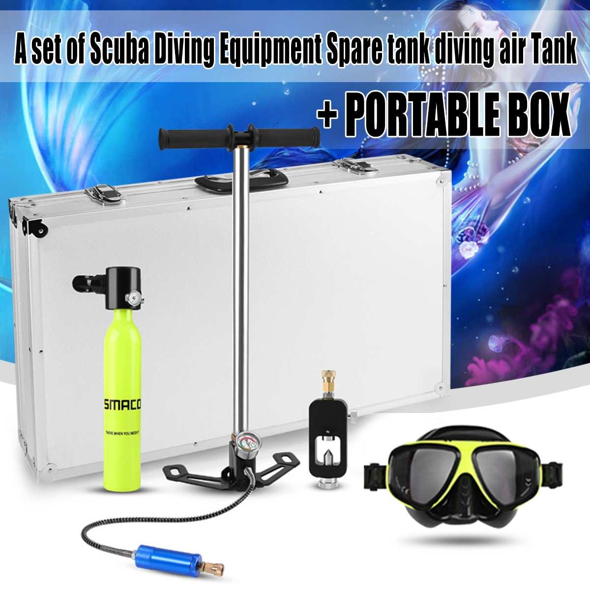 500 ml Mini réservoirs d'air d'oxygène de plongée équipement de plongée pour la plongée en apnée sous-marine régulateur de respiration cylindre accessoires