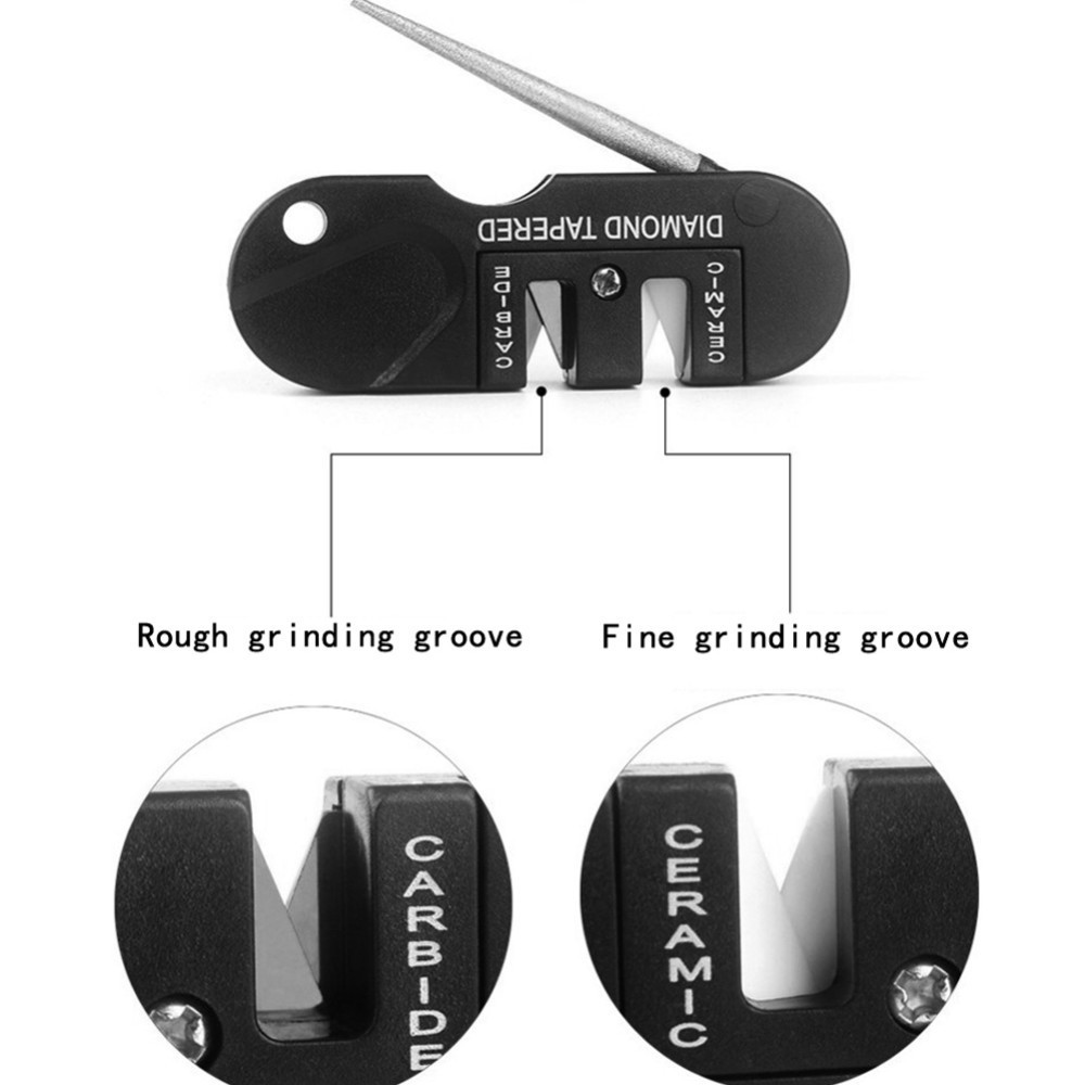 Mini Pocket EDC Folding Carbide Diamond Knife Sharpener Outdoor Camping Hiking Tapered Knife Sharpening Kitchen Accessories L2 in Sharpeners from Home Garden