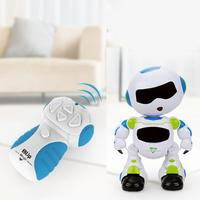 Remote Control Intelligent Robot Electric Cool Light Dancing Robot Toy White Yes Above 3 years old