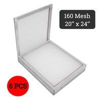 Doersupp 6 шт./компл. 44x54 см Алюминиевая шелковая трафаретная печать пресс рамка экран s белый 160 T сетка размер 50x60 см
