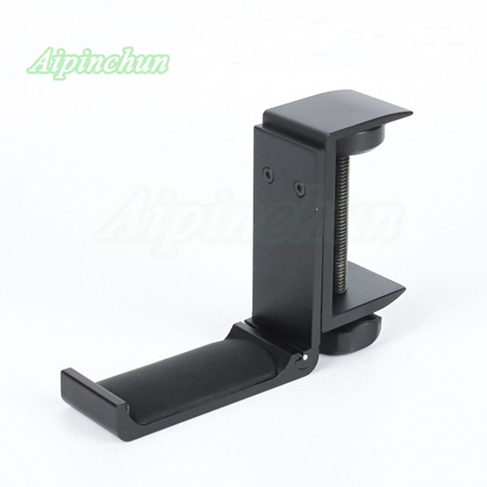 Universal Aluminium Alloy Headphone Holder Headset Bracket Hanger Metal Wall Clamp Hook Foldable Earphone Stand Desktop Mount