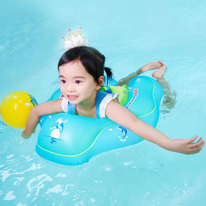 Baby Swim Circle Inflatable Double Air Float Armpit Swimming Ring Bathing Pool Toys Kids Swimming Protector Floating Board