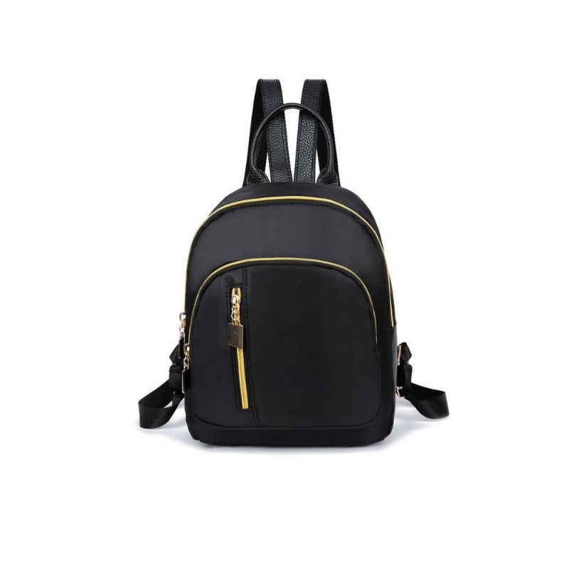 2019 casual oxford mochila feminina preto à prova dnylon água náilon sacos de escola para meninas adolescentes alta qualidade moda viagem tote mochila