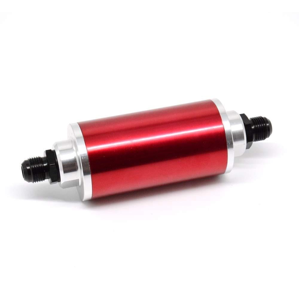 Tasan Racing universel 58 MM filtre à carburant en ligne/filtre à huile haut débit 100 microns nettoyables AN6 AN8 AN10 adaptateurs