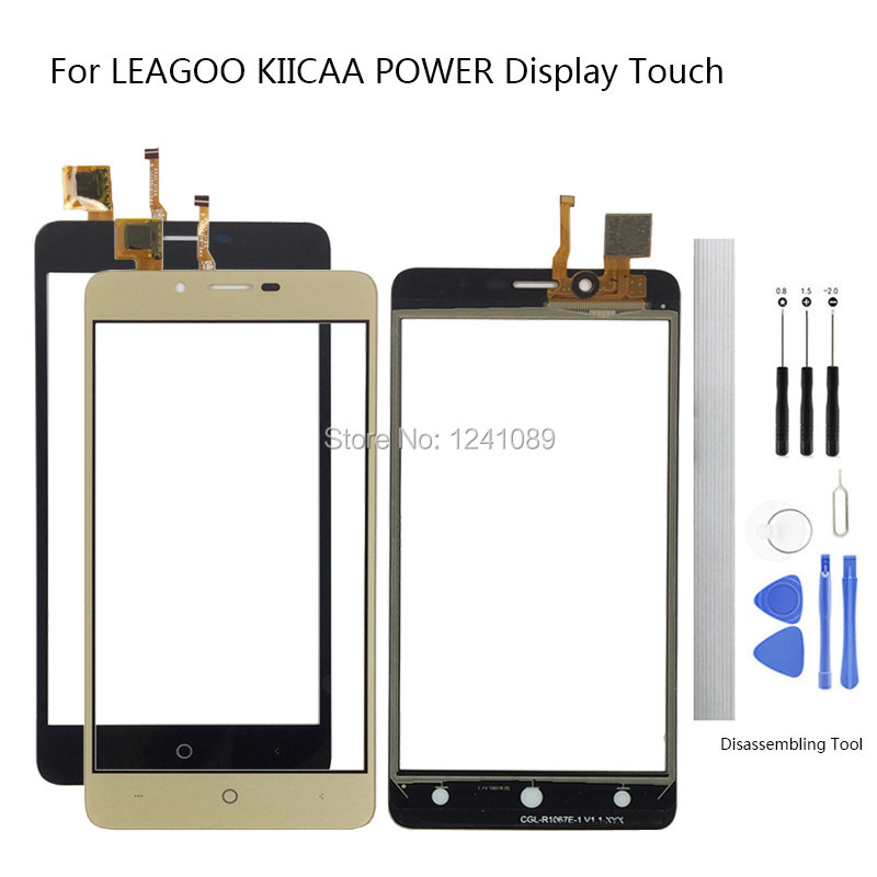 6.0 inch For Leagoo KIICAA POWER Touch Screen Digitizer Glass Original Replacement Parts black gold