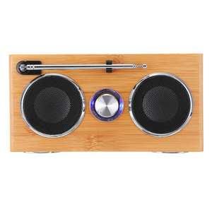 Image 5 - Retro Vintage Radio Super Bass FM Radio Bamboo Multimedia Speaker Classical Receiver USB With MP3 Player Remote Control