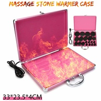 Protable Massage stone heater Electric Hot Rock Heating Box Warmer Carrying Case Thermostat Casefor SPA Massage Stone Heating