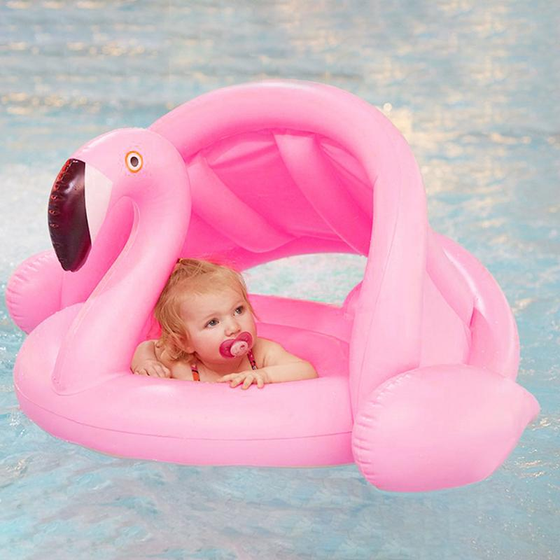 Baby Swimming PVC Environmentally Friendly Ring Inflatable Children's Sunshade Thickening Double Swimming Water Wing