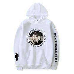New Hot Billie Eilish Hoodie Men Black Cotton Hoodie Couple Billie Eilish Sweatshirt Simple Keep Warm Women/men Hoodie Clothes 3