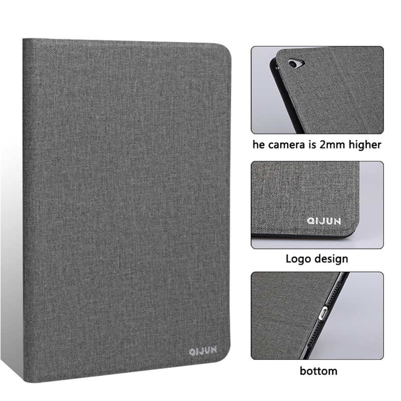 Flip stand tablet case for Apple ipad 5 Mini5 2019 fundas luxury PU leather protective cover ultra thin shell soft sillicon case