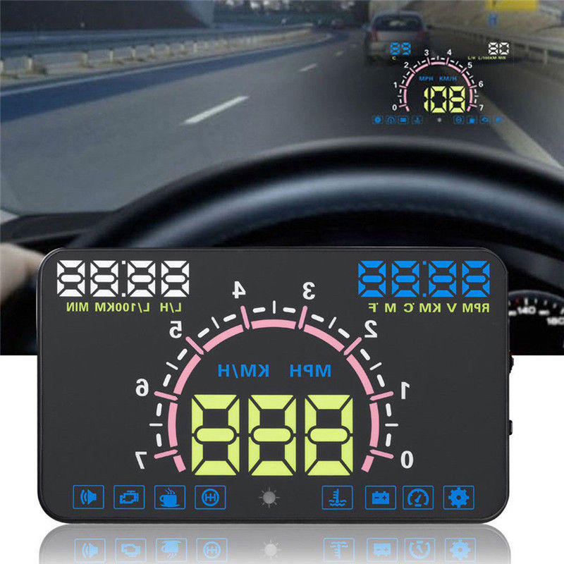 NEW 12Vdc / 400mA E350 5.8 Inch Car GPS Head Up Display HUD Speedometer Speed Warning Dashboard Warning System Projector