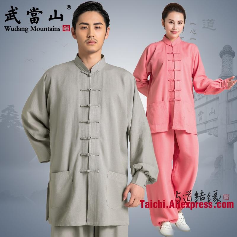 Linen Tai Chi Uniform  Traditional Taiji Clothing  Wu Shu Uniform Falx Kungfu Clothes  Variety Colors Can Be Customized