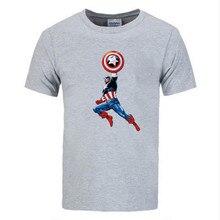 T-shirt  summer Captain America prints mens T-shirts The Big Bang Theory t shirt men sportwear brand-clothing top tees cotton