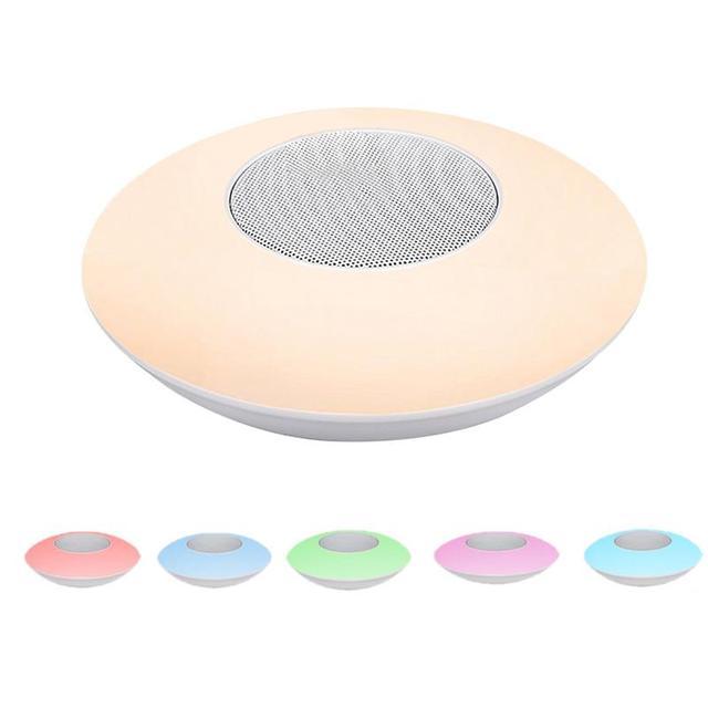 Senza fili di Bluetooth del Giocatore di X6 Colorful Intelligente HA CONDOTTO LA Lampada Altoparlante Stereo Hd Suoni Musica Circostante Dispositivi Lampada Uffici Allaperto
