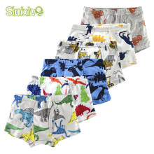 6Pcs/lot Cotton boys underwear boxer briefs for boy kid underwear Children Teenager Panties for 2-10years Cartoon Underpants(China)