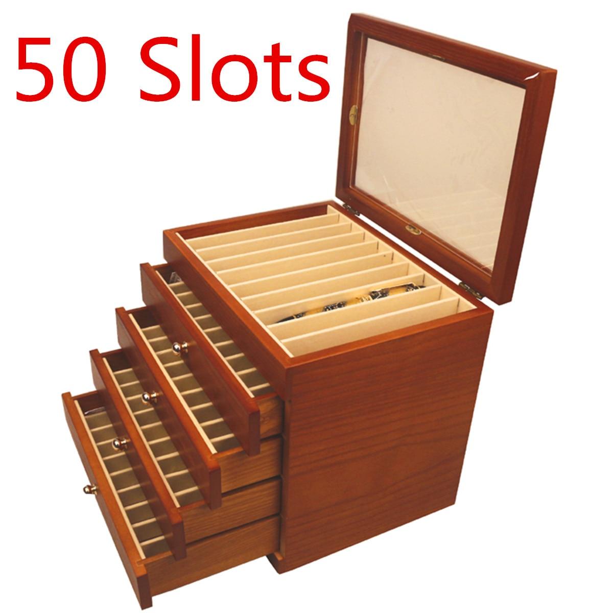 Деревянная подставка для ручек 5 Слои большой емкости деревянный ящик авторучка подставка для карандаша деревянный шкаф случае 50 ручки дер