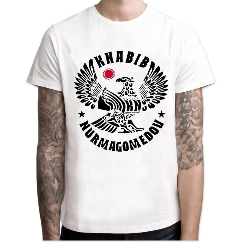 Khabib Nurmagomedov Men New Fashion 2018 Ufc Conor Mcgregor Khabib T Shirt Fitness Novelty Top Tshirt Men High Quality Top Tees