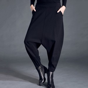 Image 3 - CHICEVER Autumn Winter Womens Pants Female Elastic High Waist Loose Oversize Black Pants Casual Fashion Clothes New