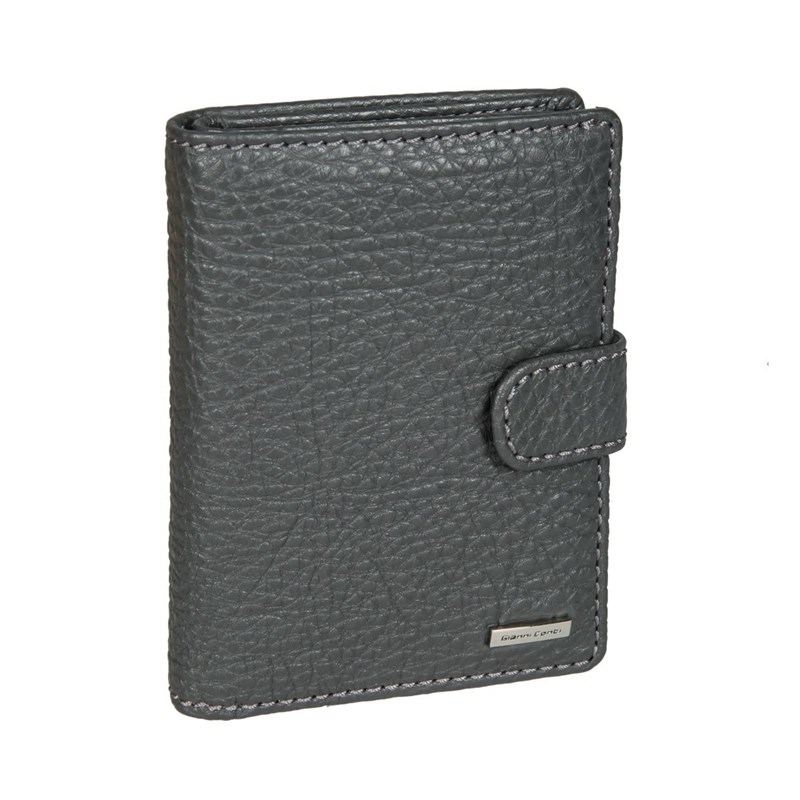 Coin Purse with cover for avtodokumentov Gianni Cont 9518451 dark gray business genuine leather men s short wallets with coin pocket vintage hasp design fashion brand quality purse for man or women