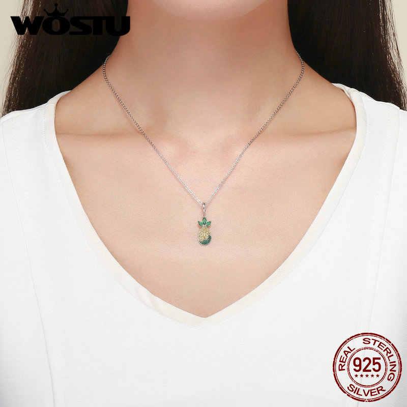 Wostu Hot Koop 925 Sterling Zilver Ananas Ketting Hanger Voor Vrouwen Kralen Fit Charm Armband Mode Mooie Sieraden CQC1076