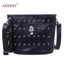 Череп дизайн Для женщин Курьерские сумки Сумки сумки на плечо сумка клатч девушка черный череп Кроссбоди мешок Bolsas Borse Feminina