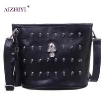 964cf2451b41 Череп дизайн Для женщин Курьерские сумки Сумки сумки на плечо сумка клатч  девушка черный череп Кроссбоди мешок Bolsas Borse Femi.