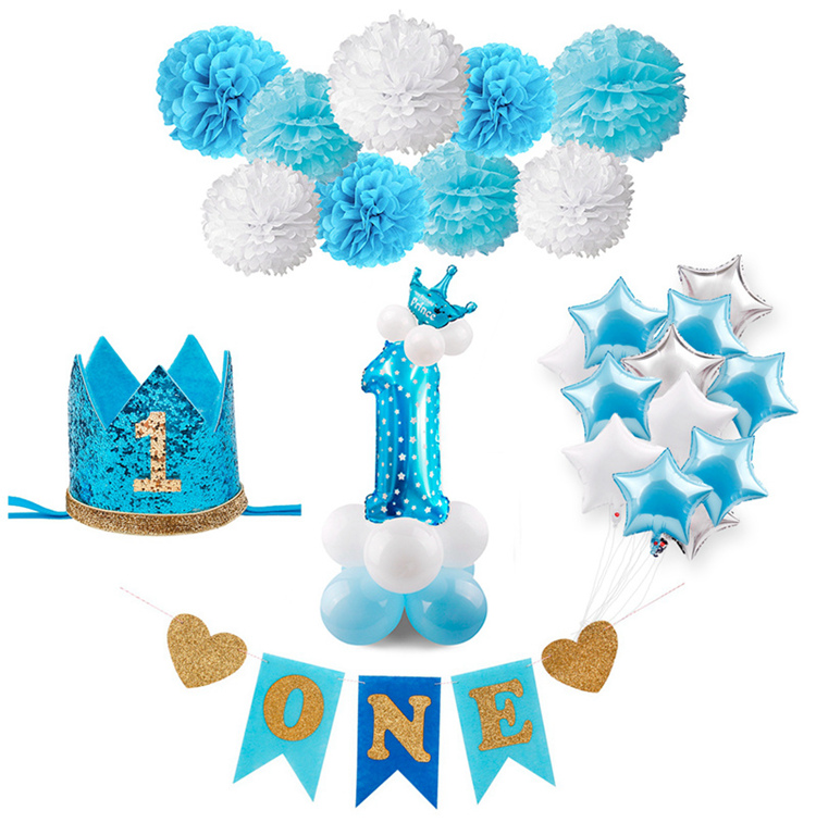 1st Birthday Party Decor Kids 1 Year Birthday Decor First I Am One Decor Birthday Decor 2nd 3rd happy birthday For GIrl Boy Kid in Party DIY Decorations from Home Garden